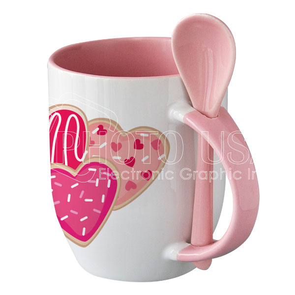 12 oz. Two-Tone Mug with Color Spoon
