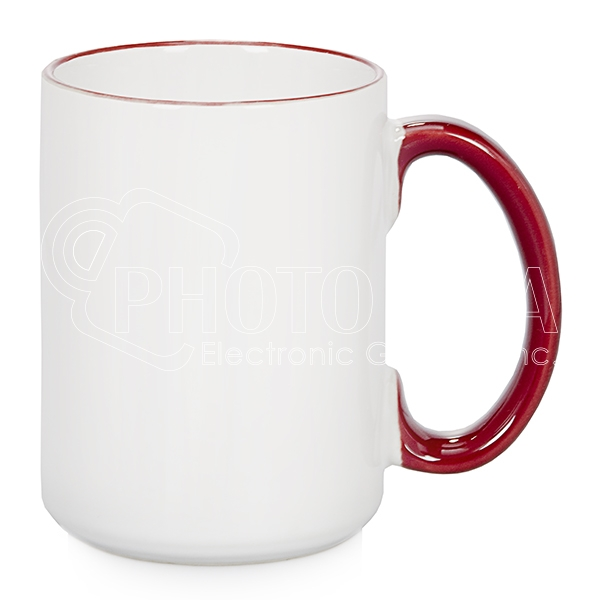 15 oz. Two-Tone Mugs – Handle, Rim