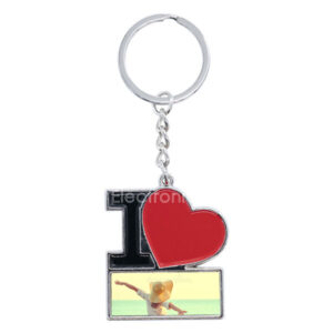 Personalized I Love You Key Ring