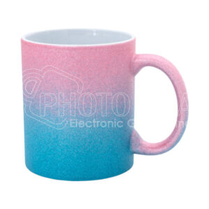11 oz. Personalized Glitter Mug in Ombré Colors