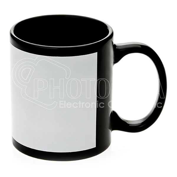 11 oz. Ceramic Mugs - White Patch