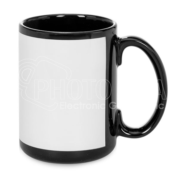 15 oz. Ceramic Mugs - White Patch