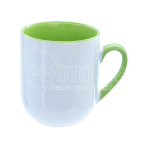 9 oz. Two-Tone Mug with Tapered Bottom (Inside and Handle Colored)