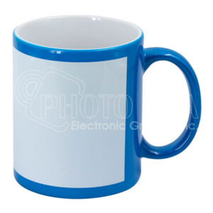 11 oz. Fluorescent Mug with White Patch