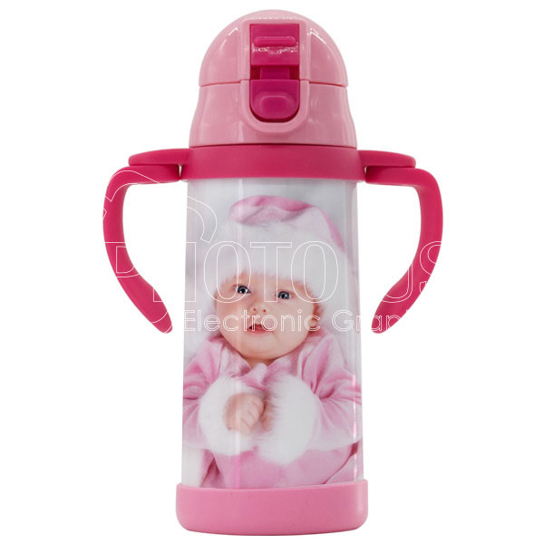 350 ml Double-Handle Baby Water Bottle with Straw
