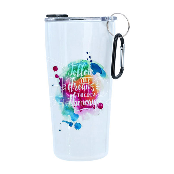 20 oz. Stainless Steel Tumbler with Carabiner Handle