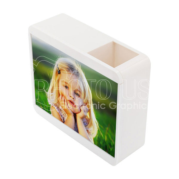 "Personalized Pencil Holder Piggy Bank with 7"" Photo Frame"
