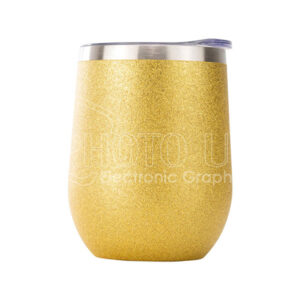 12 oz. Sublimation Glitter Stainless Steel Stemless Wine Cup