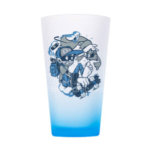 16 oz. Sublimation Colored Frosted Glass Cup in Ombré Color