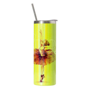 20 oz. Sublimation Pearl Paint Stainless Steel Skinny Tumbler with Lid and Straw